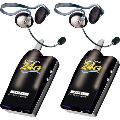 Eartec 2 Simultalk 24G Beltpacks with Monarch Headsets SLT24G2MO