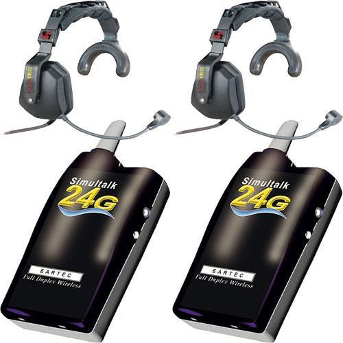 Eartec 2 Simultalk 24G Beltpacks with Ultra Single SLT24G2US