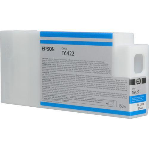 Epson T642200 Ultrachrome HDR Ink Cartridge: Cyan (150ml)