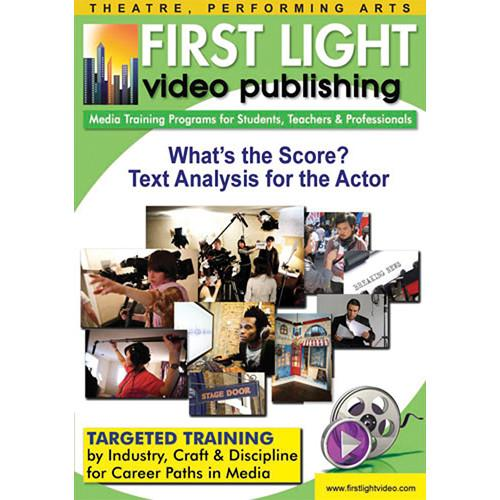 First Light Video DVD: What's The Score? Text Analysis F614DVD