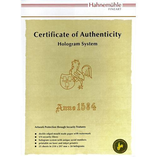 Hahnemuhle Certificate of Authenticity & Hologram 10640397