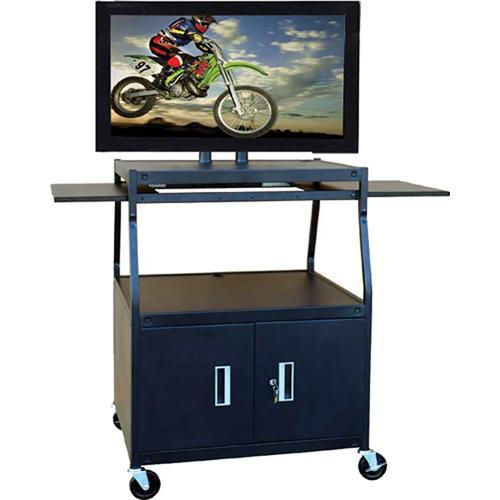 HamiltonBuhl PLCAB44E Wide Body Flat Panel TV Cart PLCAB44E