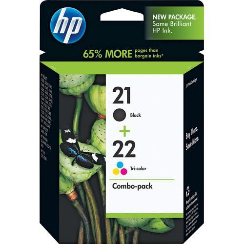 HP 21/22 Combo-pack Inkjet Print Cartridges C9509FN#140