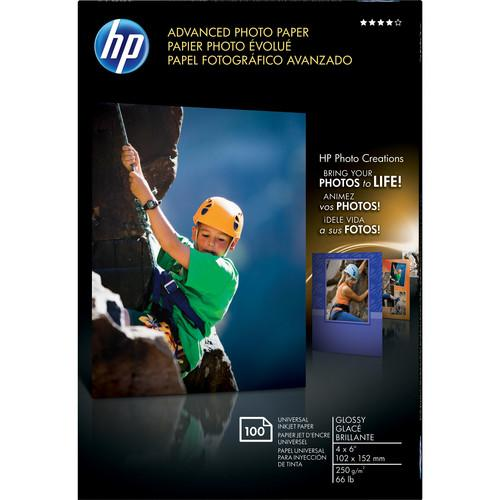 HP Advanced Photo Paper Glossy Borderless (A6) 4x6