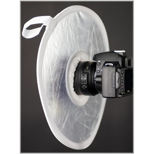 Interfit STR112 On Camera Reflector, Silver/White - STR112