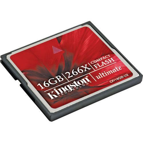 Kingston 16GB CompactFlash Ultimate 266x Memory Card CF/16GB-U2