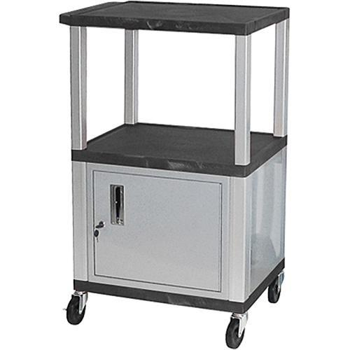 Luxor Multi-Height A/V Cart with 3 Shelves, and WT2642C4E-N