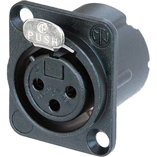 Neutrik NC3FDLXB 3-Pin XLR Female Receptacle NC3FD-LX-B