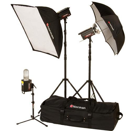 Norman 3 Monolight, Umbrella/Softbox Kit (120VAC) 812913