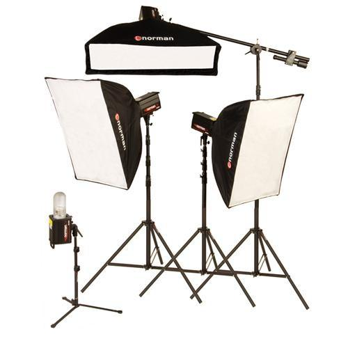 Norman 4 Monolight, 3 Softbox Studio Boom Kit (120VAC) 812937