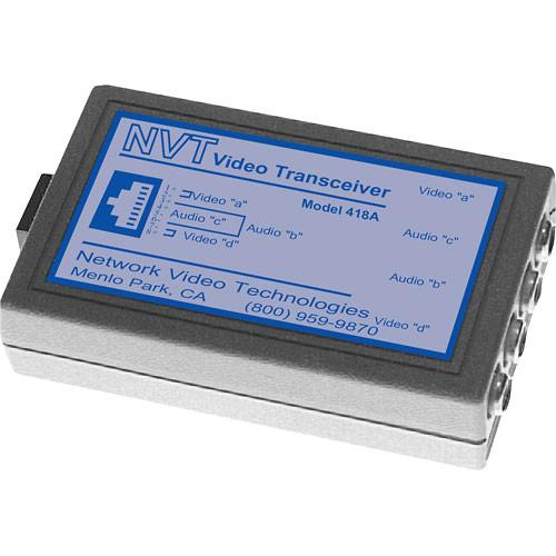 NVT NV-418A Dual Channel Passive Video/Audio Transceiver NV-418A