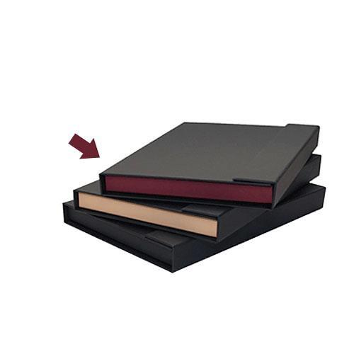 Print File Magna Folio 9x12 (Black with Maroon Tray) 280-5310