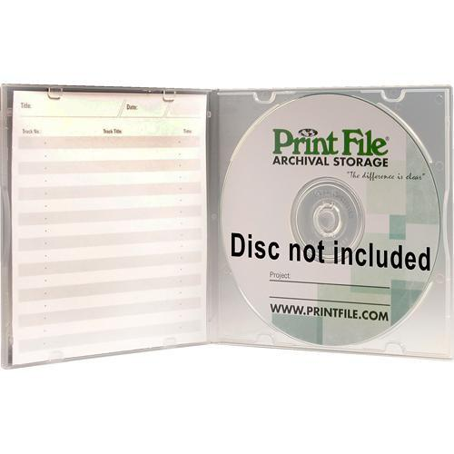 Print File SLPOLY Clear Slimline CD/DVD Case 275-0250