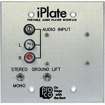 Pro Co Sound iPlate - Portable Audio Player Wall Plate IPLATE