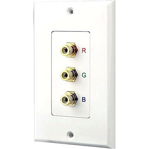 Pyle Pro PHRCOMP3 RCA Component Video Wallplate PHRCOMP3
