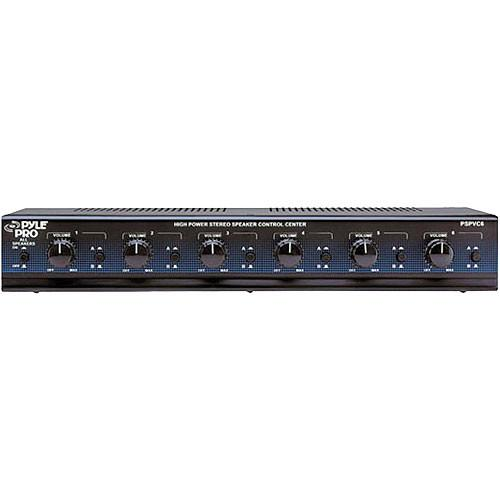 Pyle Pro PSPVC6 6-Channel High Power Speaker Selector PSPVC6