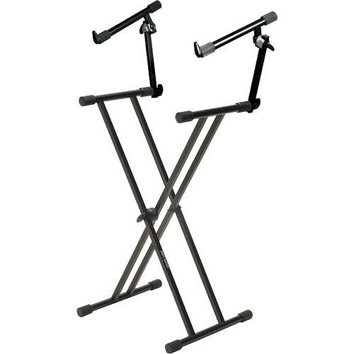 QuikLok T-22 Double Braced 2-Tier Adjustable Keyboard Stand T-22