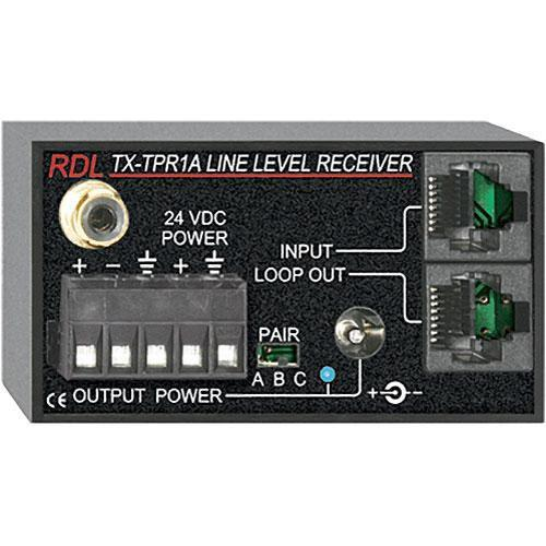 RDL TX-TPR1A Active Single-Pair Receiver Format A TX-TPR1A