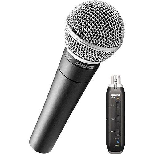 Shure X2u XLR to USB Microphone Signal Adapter and SM58 SM58-X2U