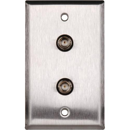 TecNec WPL-1102/R Stainless Steel Wall Plate with (2) WPL-1102/R