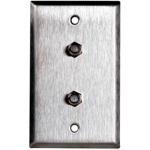 TecNec WPL-1108/R Stainless Steel Wall Plate with (2) WPL-1108/R