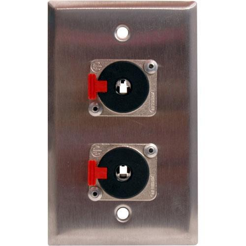TecNec WPL-1112 1-Gang Wall Plate with (2) 1/4