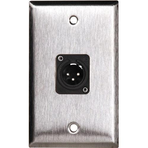 TecNec WPL-1113 1-Gang Wall Plate with Male 3-Pin XLR WPL-1113