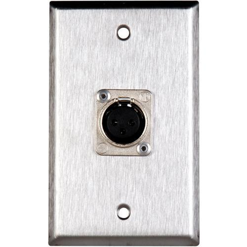 TecNec WPL-1117 Stainless Steel 1-Gang Wall Plate WPL-1117