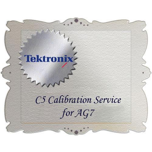 Tektronix  C5 Calibration Service for AG7 AG7 C5