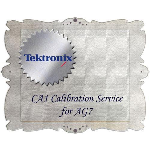 Tektronix CA1 Calibration Service for AG7 AG7-CA1