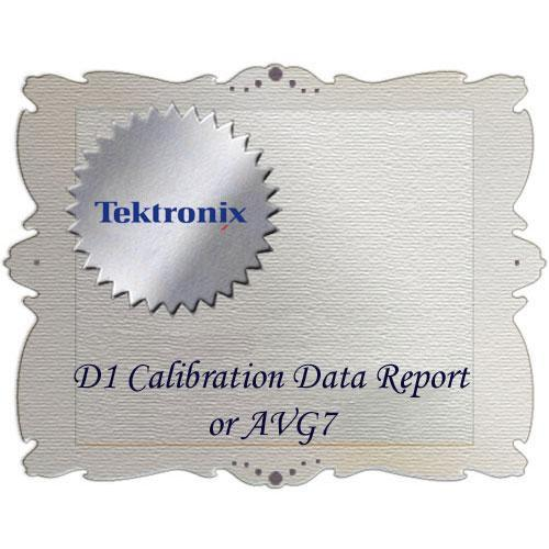 Tektronix D1 Calibration Data Report for AVG7 AVG7 D1