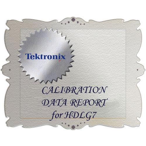Tektronix D1 Calibration Data Report for HDLG7 HDLG7 D1