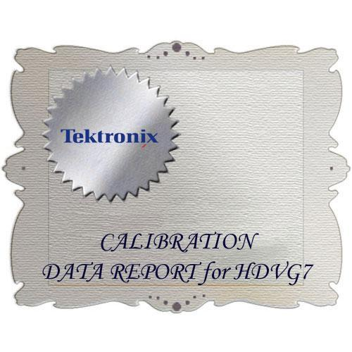 Tektronix D1 Calibration Data Report for HDVG7 HDVG7 D1