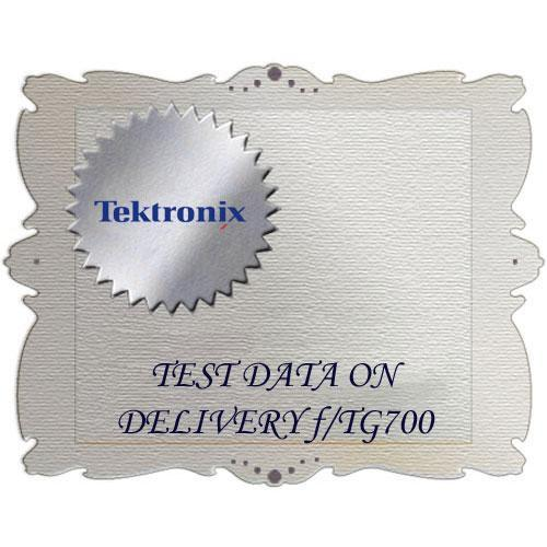 Tektronix D3 Calibration Data Report for TG700 TG700 D3