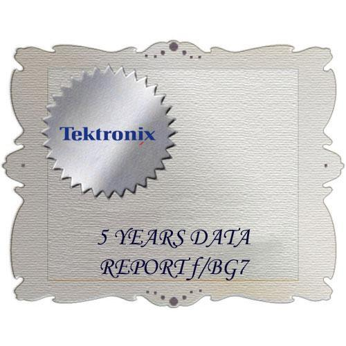 Tektronix D5 Calibration Data Report for BG7 BG7 D5
