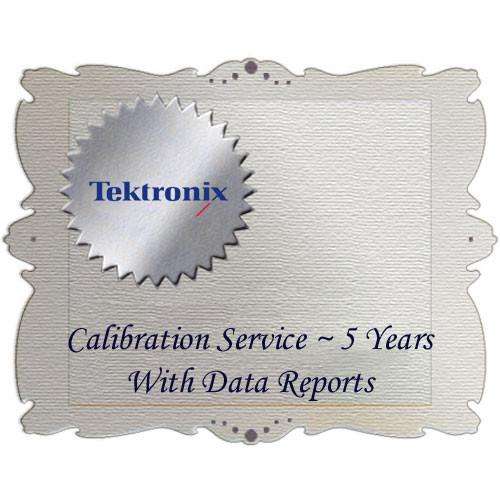 Tektronix D5 Calibration Data Report for WFM6120 WFM6120D5