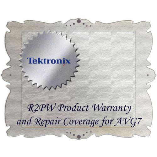 Tektronix R2PW Product Warranty and Repair Coverage AVG7-R2PW