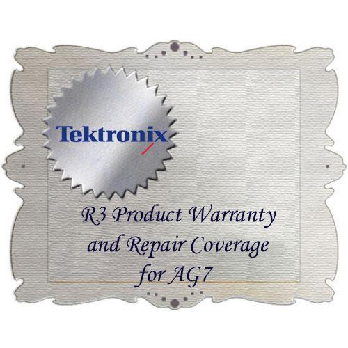 Tektronix R3 Product Warranty and Repair Coverage for AG7 AG7 R3