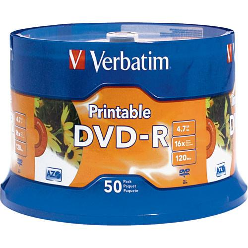 Verbatim  DVD-R 4.76GB 16X Printable (50)