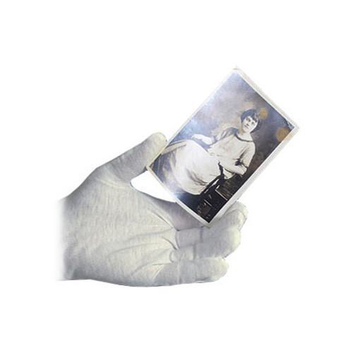 Archival Methods 61-555-L White Nylon Gloves 61-555-L