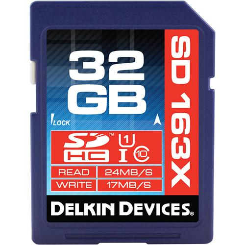 Delkin Devices 32GB SDHC Memory Card Pro Class 10 DDSDPRO3-32GB