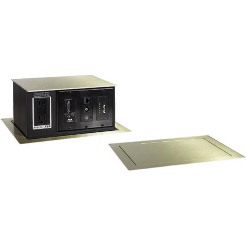 FSR PTB-4-BRS Pop-Up Table Box AC Outlet 4 Gang Brass PTB-4-BRS