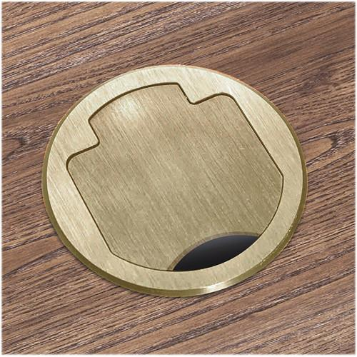 FSR T3-AC2HW-CP-BRS Table Box (Round Brass Cover)