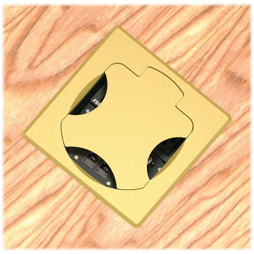 FSR T6-SQBRS Table Box (Square Brass Cover) T6-SQBRS