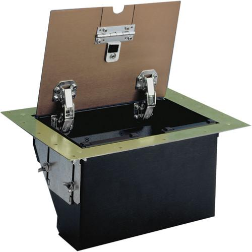 FSR TB-5G-BRS-LIFT 5-Gang Table Box (Brass) TB-5G-BRS-LIFT