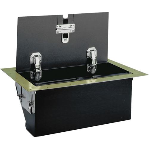 FSR TB-6G-BRS-LIFT 6-Gang Table Box (Brass) TB-6G-BRS-LIFT