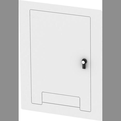 FSR WB-X3-CVRND-WHT Flush-Mounted Locking Cover WB-X3-ND-WHT-C