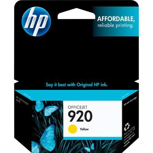 HP  920 Yellow Officejet Ink Cartridge CH636AN
