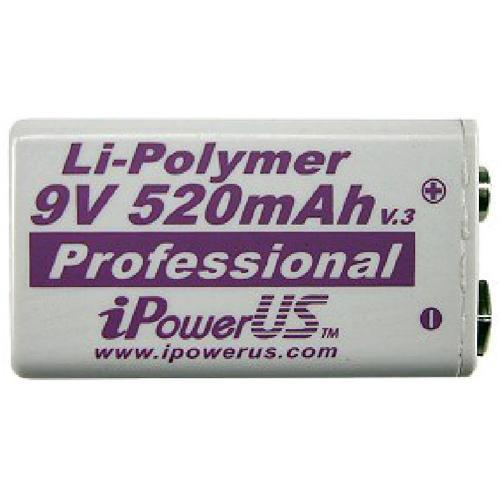 iPower  9V Li-Polymer 520mAh Battery IP9V520Q