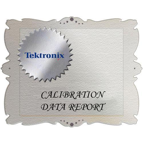 Tektronix D1 Calibration Data Report for ATG7 ATG7 D1